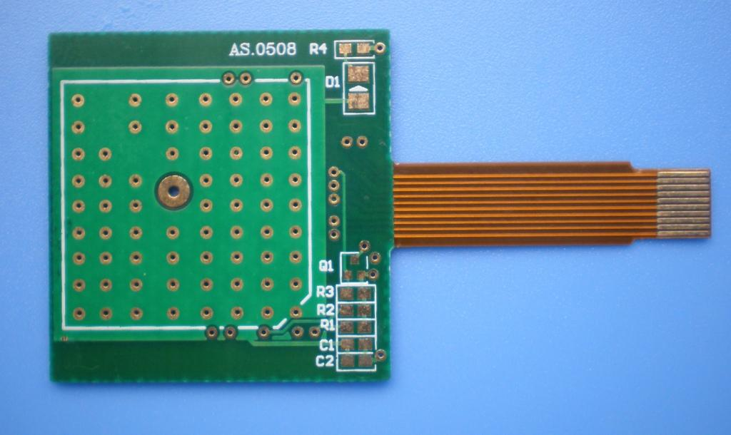 single layers rigid-flexible PCB